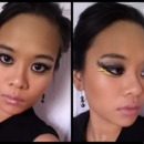 Black & Gold Catching Fire Look