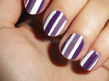Claires nail paint in light and dark purple, Illamasqua Precision Ink in Scribe