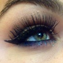 Dark blue bottom lash line
