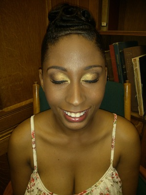 A look I did for a beauty pageant contestant. The pageant was called Miss Black and Gold