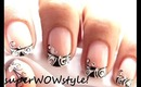 French Manicure Nail Art - Designs Black and White