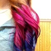 Pink to purple ombre 💖💜💕💜