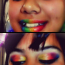 Rainbow Lips & Eyes