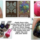 How to create multi-colored stamped nails..
