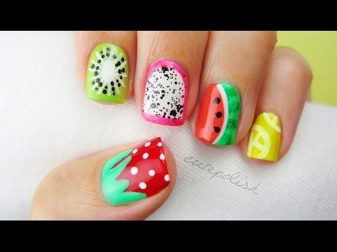 5 Summer Fruit Nail Art Designs Cutepolish X Video Beautylish