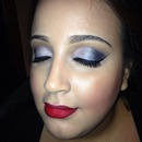 Makeup i did on this doll for new years eve <3