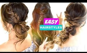 3 Easy BACK-TO-SCHOOL Hair Goals ★ Cute 5-Minute Hairstyles