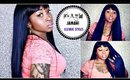 How To Wear A Bang Wig | Easiest Wig Application Ever! Nicki Minaj Inspired Jamani Wig