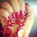Razorback Red Artificial Nails By California Nails
