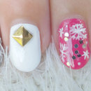 Crystal Snowflake Nail Art (Girly!)