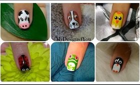 Animal Nail Art Vol.1 | Diseño de Uñas, Animales ♥ Дизайн Ногтей - Животные