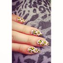 WAH inspired leopard nails.
