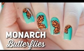 Monarch Butterfly Nail Art