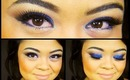 Blue Sparkle Glitter Makeup Tutorial \\ ELF 144 Eye Shadow Palette \\ villabeauTIFFul