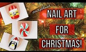 10 Christmas Nail Art Designs! The Ultimate Guide #3!  | DIY Holiday Nail Tutorial