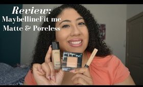 Maybelline Matte & Poreless Foundation  Review