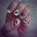 My dreamcatcher nails :)
