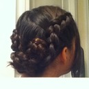 Quick 3-Braid Flower Updo