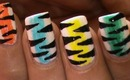 Rainbow Tiger!  Nail Art Designs Easy Youtube Do It Yourself Nails Step By Step How To Do Nails Art