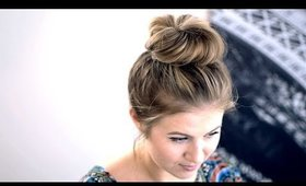 Messy Top Knot for Short Hair Tutorial
