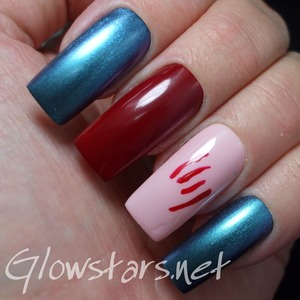 For more nail art, manis in this challenge and products used visit http://Glowstars.net