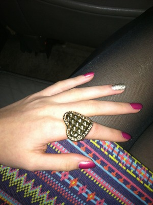 This was a manicure!!!! I actually have no idea what the colors are though! Sorry!