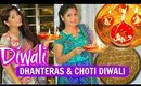 Diwali Vlog Choti Diwali Dhanteras Pooja Shopping Cooking & Decorations | SuperPrincessjo
