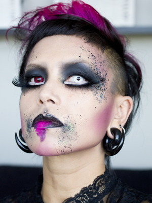 A dark faerie look inspired by the poem The Uses of Sorrow.