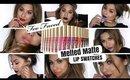 Too Faced Melted Matte Liquid Lipstick Lip Swatches   ArielHopeMakeup