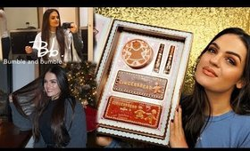 TOO FACED Gingerbread Palettes Review + Getting My Hair Done at the NYC Bumble & Bumble Salon!