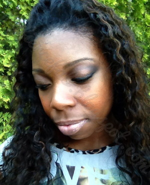 Wearing the KA'OIR Glitzstick (lipstick + matching glitter) over chestnut lipliner by MAC.   www.youtube.com/flyfiercefab flyfiercefab.blogspot.com