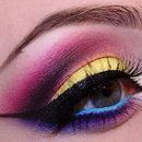 Neon summer makeup