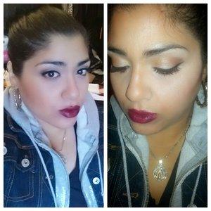 urban decay naked pallet,  revlon black cherry lipstick