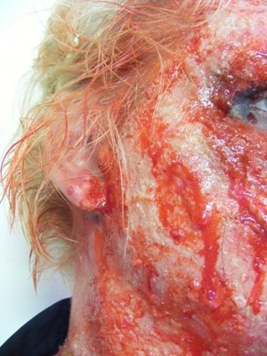 Injury Simulation Makeup Titled: hit & run 2011
