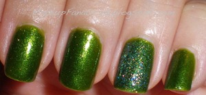 NOTW Confetti Nail Polish in My Favorite Martian & Party Palace Blue 2 http://makeupfanatic27.blogspot.com/2011/09/fotd.html