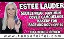Estee Lauder | Double Wear Maximum Cover Makeup SPF 15 | Full Demo & Review | Tanya Feifel