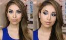 Pop of Blue- Full Face Makeup Tutorial
