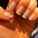 Multicolored mani!