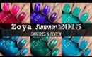 Zoya Summer 2015 - Island Fun & Paradise Sun Collections | Swatches & Review!