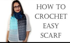 How to Crochet Easy Scarf