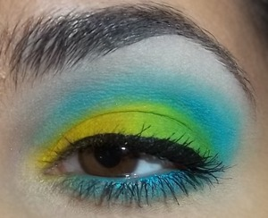 A neon look that I made for a neon themed dance.