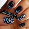 Glitter Pieces Nail Art