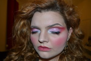 Makeup inspired by the character Desdemona in Shakespeare's Othello.