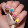 Birthday cupcake nails