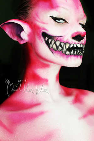 My version of the Cheshire Cat! It is a mix of Disney's, American Mcgee's, and Tim Burton's. Check out my page, www.facebook.com/madeulookbylex