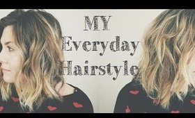 My Everyday Hairstyle - Beach Wave - Lauren Conrad Inspired - Medium Short Hair