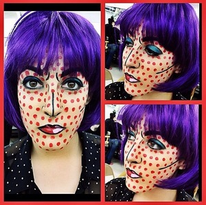 I did this makeup for Halloween on Judi. www.sarahblissmakeup.com