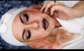Darker Winter Makeup: Pink and Brown Smokey Eyes - Ojos Ahumado Rosa y Marron