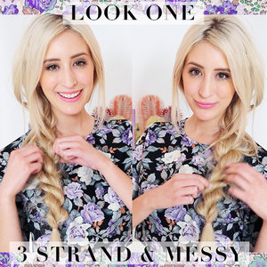 Find out how to get this 3 strand, messy rope braid here: http://bit.ly/1vRpb6u