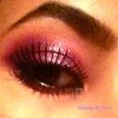 Purple-ish with amazing lashes!